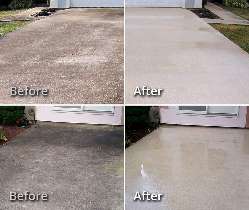 Baton Rouge LA Soft Wash Concrete Cleaning Driveways, Patios, Pool Decks
