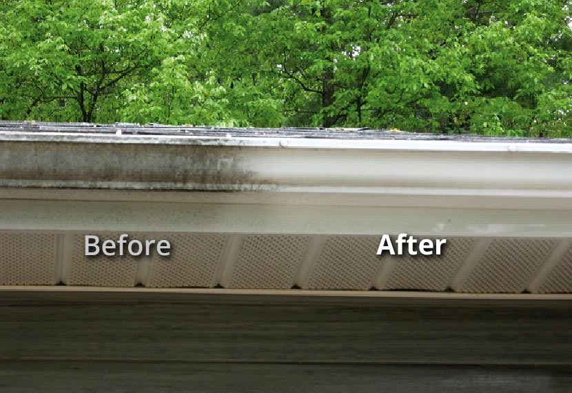 Baton Rouge LA Soft Wash Gutter Exterior Cleaning